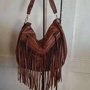Antik Kraft vegan leather hobo fringe purse